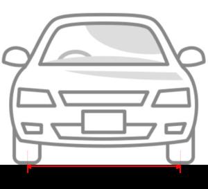 車のトレッド幅
