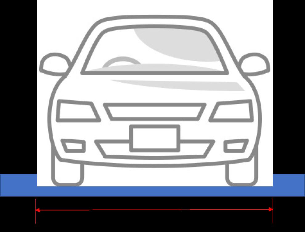 車のパレット幅